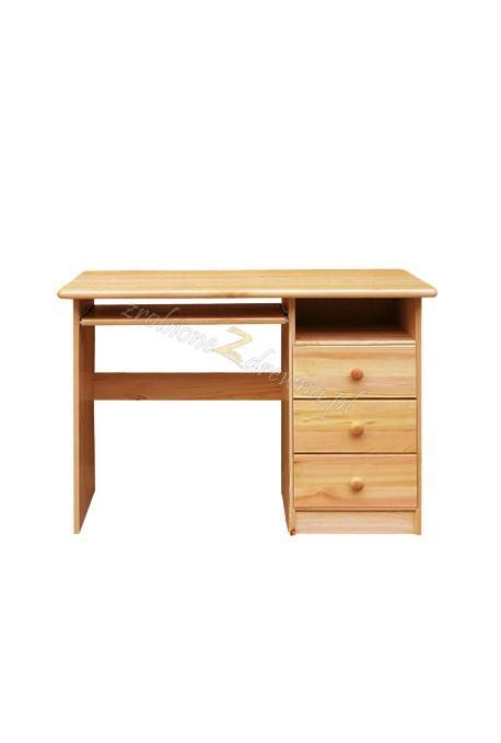 Borovicový písací stôl 3S