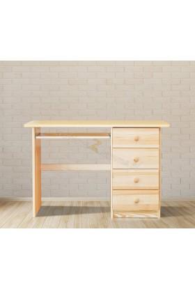 Borovicový písací stôl 4S