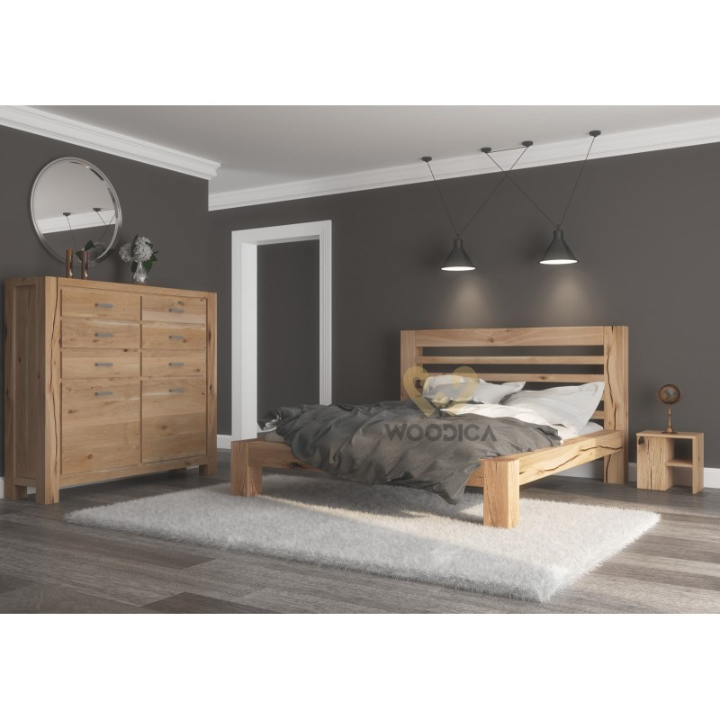 Łóżko dębowe Syringa 01>                                         <span class=