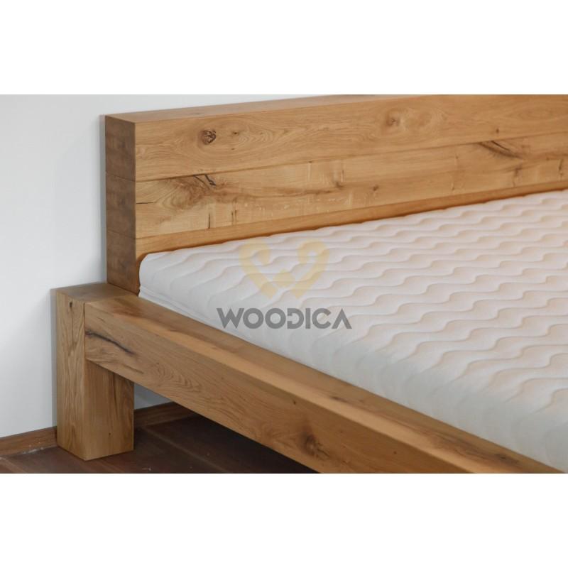 Łóżko dębowe Syringa 02>                                         <span class=