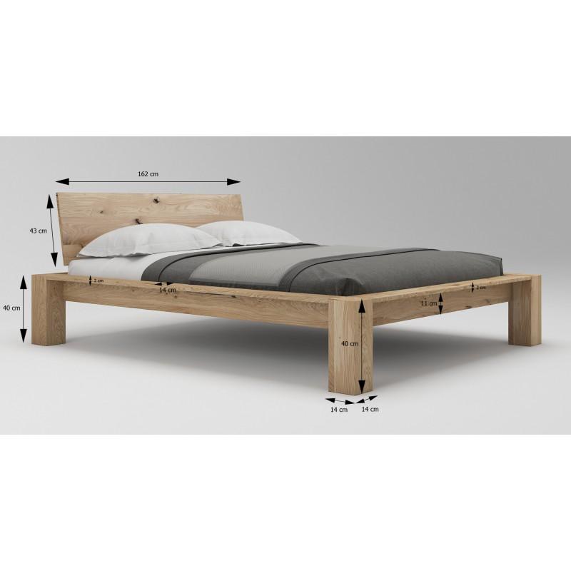 Łóżko dębowe Imperata 04>                                         <span class=