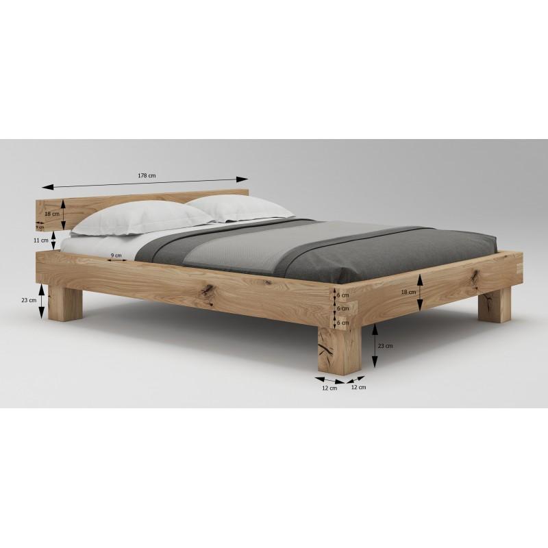 Łóżko dębowe Caragana 02>                                         <span class=