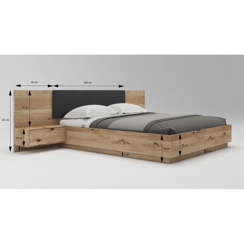 Łóżko dębowe Podnoszone 03>                                         <span class=