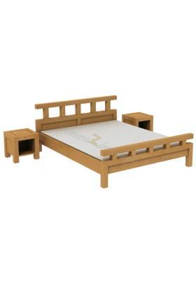 Brezová posteľ L7