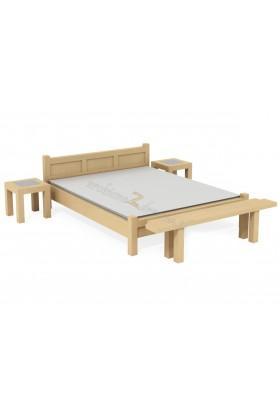 Brezová posteľ L8