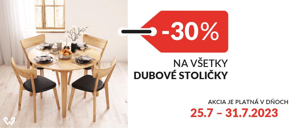 Stoličky, kreslá dubové -30%
