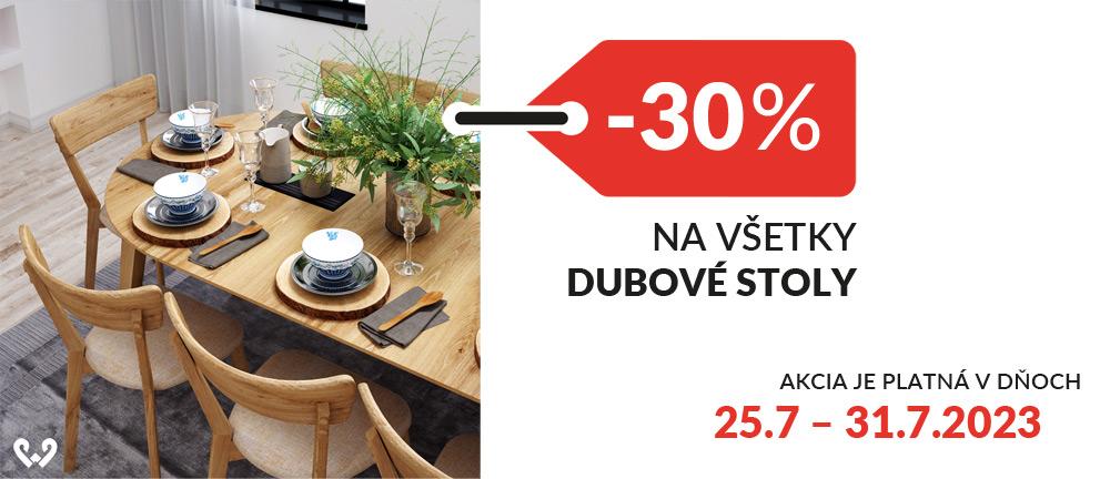 Stoly, stolíky dubové -30%