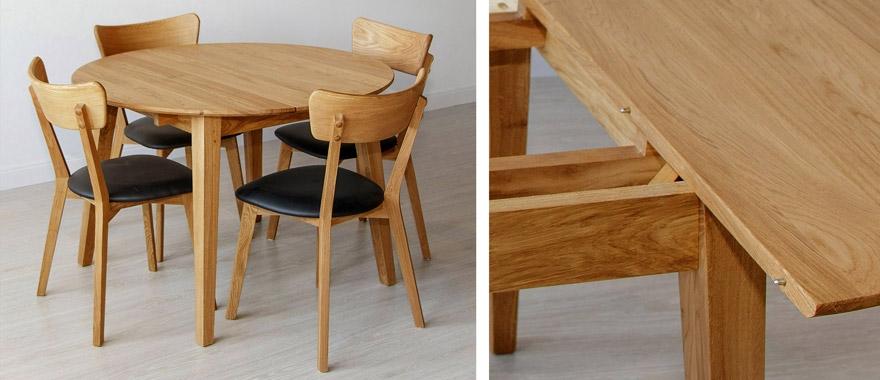 Stoly, stolíky dubové