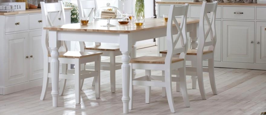 Biely stôl z masívu Nicea