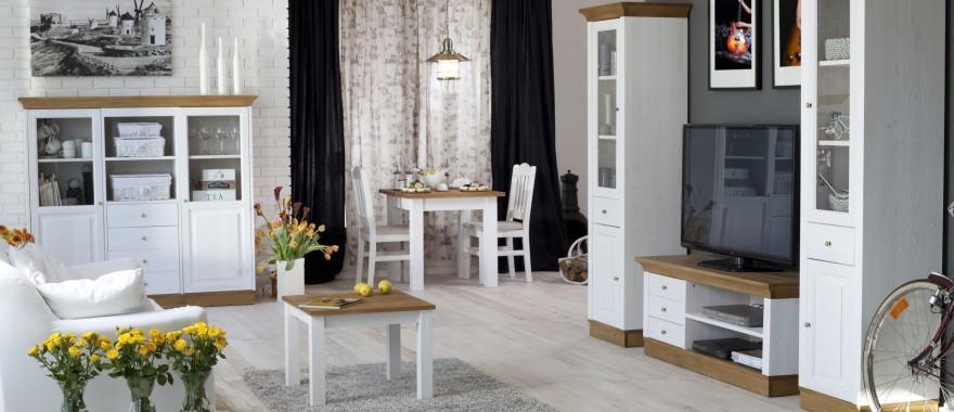 Biely nábytok z masívu Roma