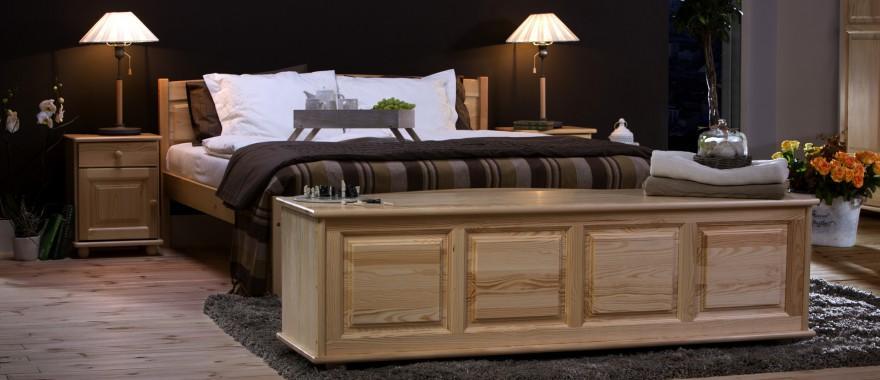 Borovicová posteľ Klasická