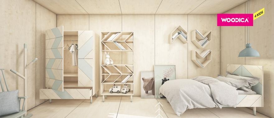 Detský nábytok z masívu Jodełka