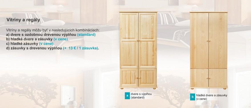 Borovicové vitríny Klasické