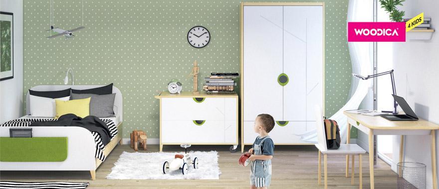 Borovicový detský nábytok Mikka