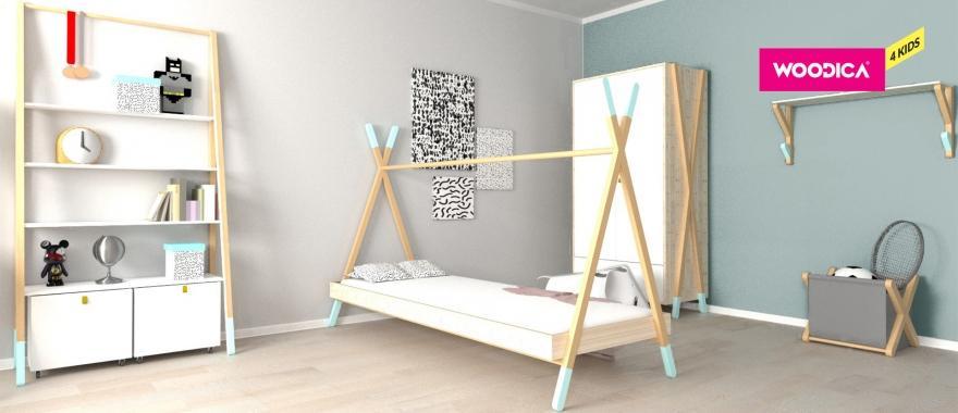 Detský nábytok z masívu Tipi