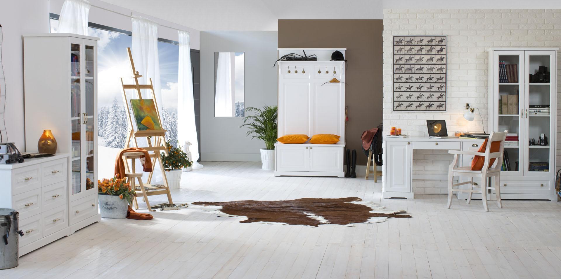 7de837586227 Biely nábytok z masívu Parma