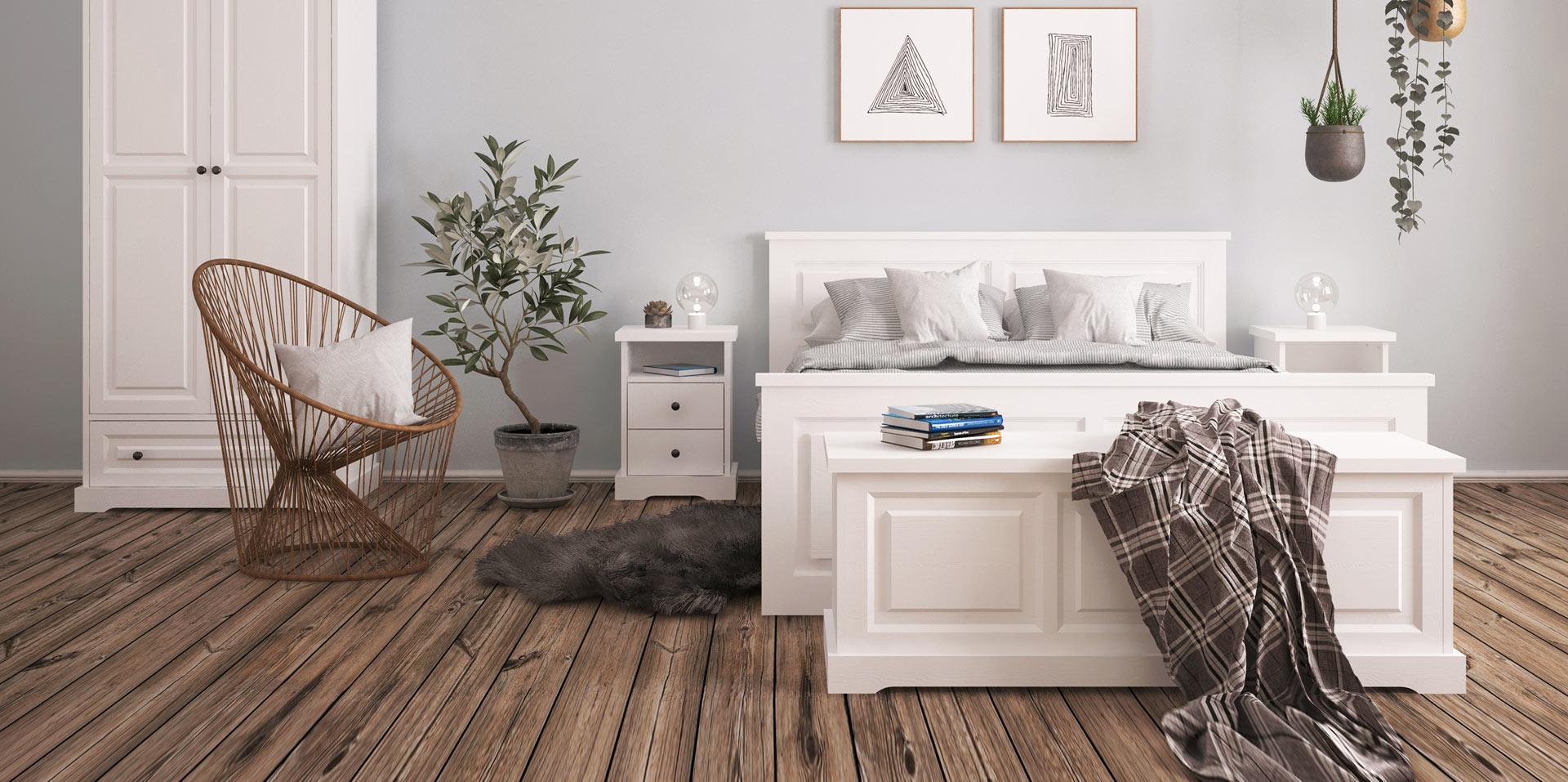 5b4c6711e1c1 Biely nábytok z masívneho dreva Parma